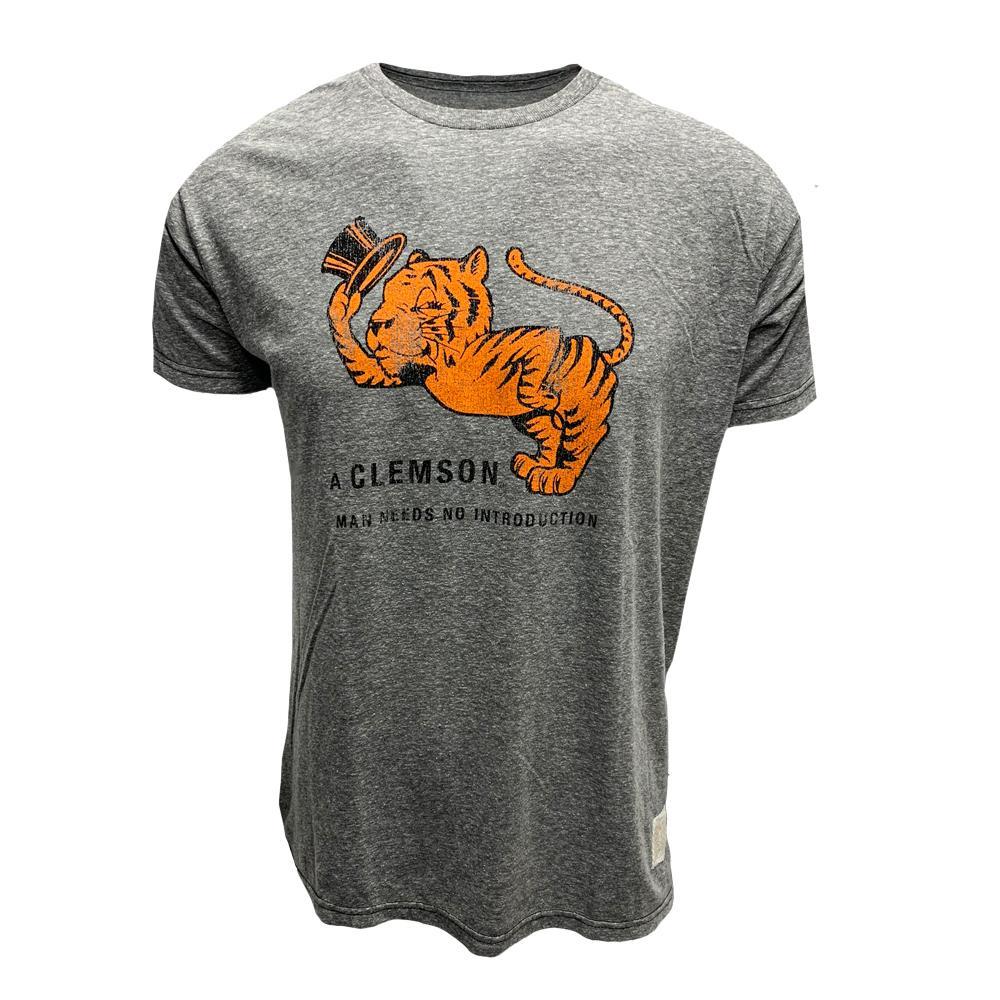 Clemson Retro Brand Gentleman Tiger Streaky Tee