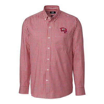 Western Kentucky Cutter & Buck League Gingham Long Sleeve Woven