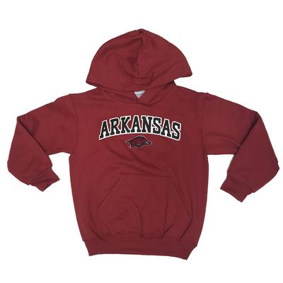 Arkansas Champion Youth Hooded Sweatshirt