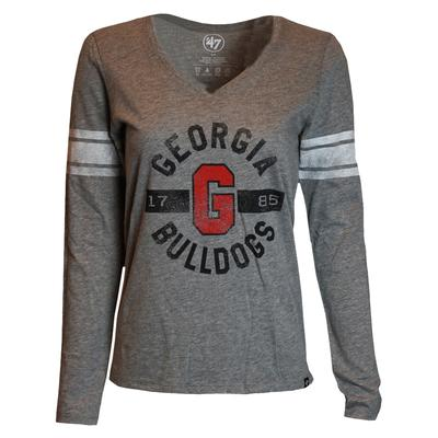 Georgia 47' Women's Club Stripe Long Sleeve Tee