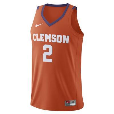 Clemson Nike Replica Basketball Jersey #2