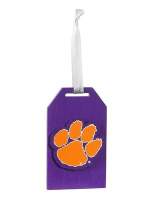 Clemson Tigers Gift Tag Ornament