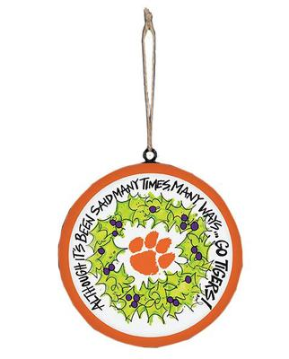 Clemson Tigers Wreath Ornament