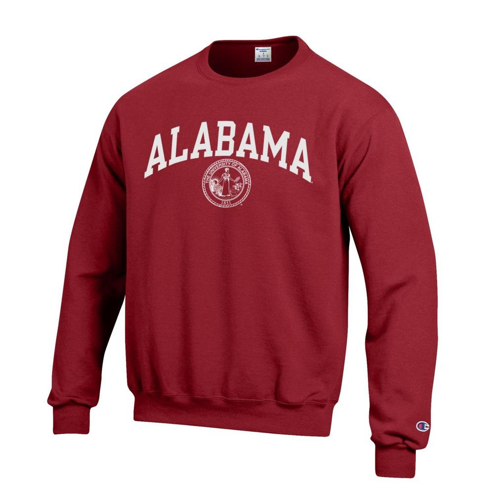 Alabama College Seal Crew Sweatshirt