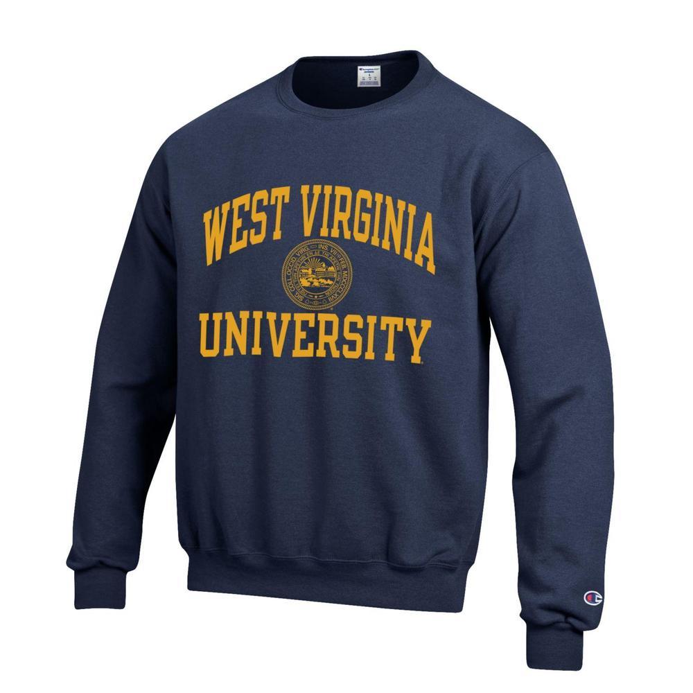 West Virginia College Seal Crew Sweatshirt