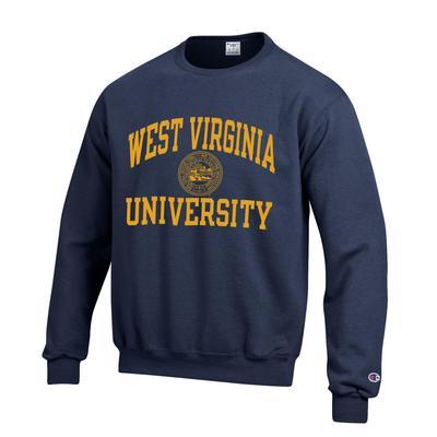 West Virginia College Seal Crew Sweatshirt NAVY