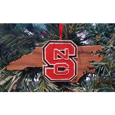 NC State Map Tree Ornament