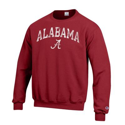 Alabama Arch Screen Crew Sweatshirt