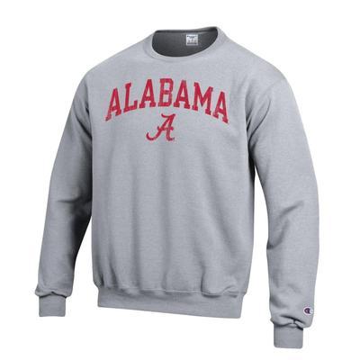 Alabama Arch Screen Crew Sweatshirt