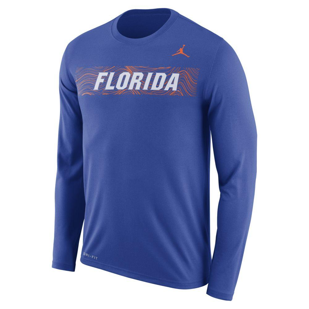 Florida Jordan Brand Dri- Fit Legend Long Sleeve Sideline Tee