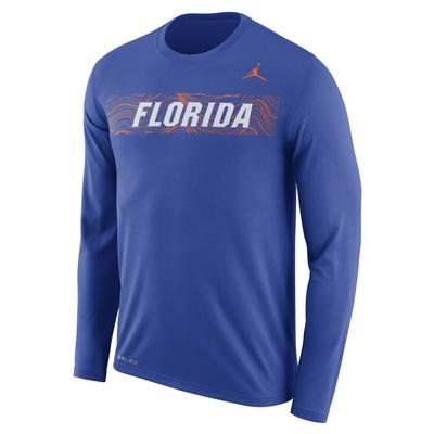 Florida Jordan Brand Dri-Fit Legend Long Sleeve Sideline Tee ROYAL
