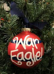 Auburn War Eagle Tree Ornament