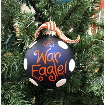 Auburn Glitter Dot Tree Ornament