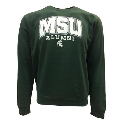 Michigan State Arch Logo Screen Print Crew Fleece Sweatshirt