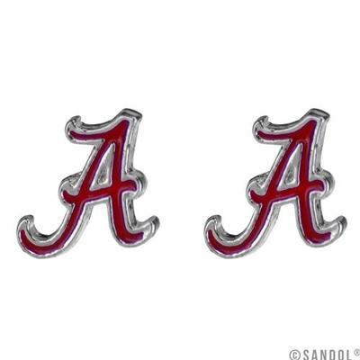 Alabama Enamel Stud Earrings