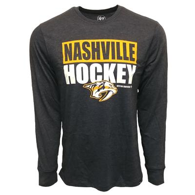 47 Brand Men's Predators Nashville Hockey Club Long Sleeve T Shirt