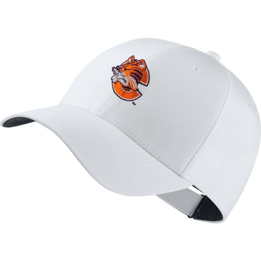 Clemson Nike Golf Dri- Fit Retro Logo Tech Cap