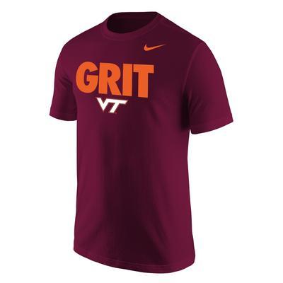 Virginia Tech Nike Grit Mantra Tee