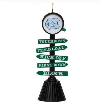 UNC Fan Crossing Christmas Ornament