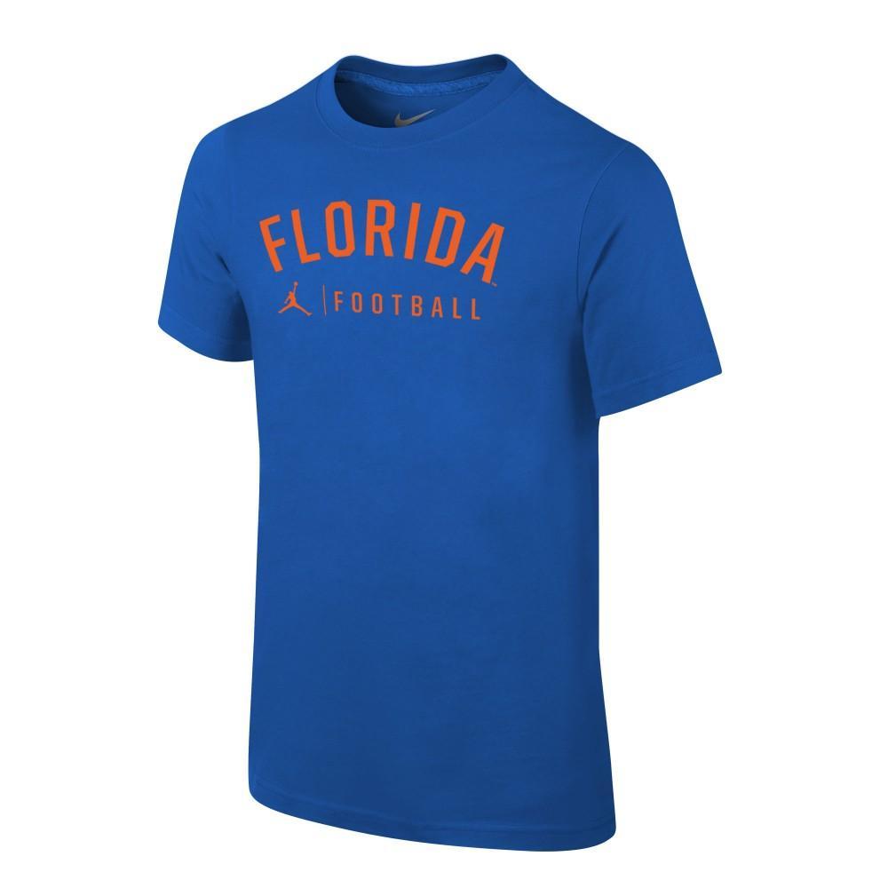 Florida Jordan Brand Youth Dri- Fit Cotton Football Tee