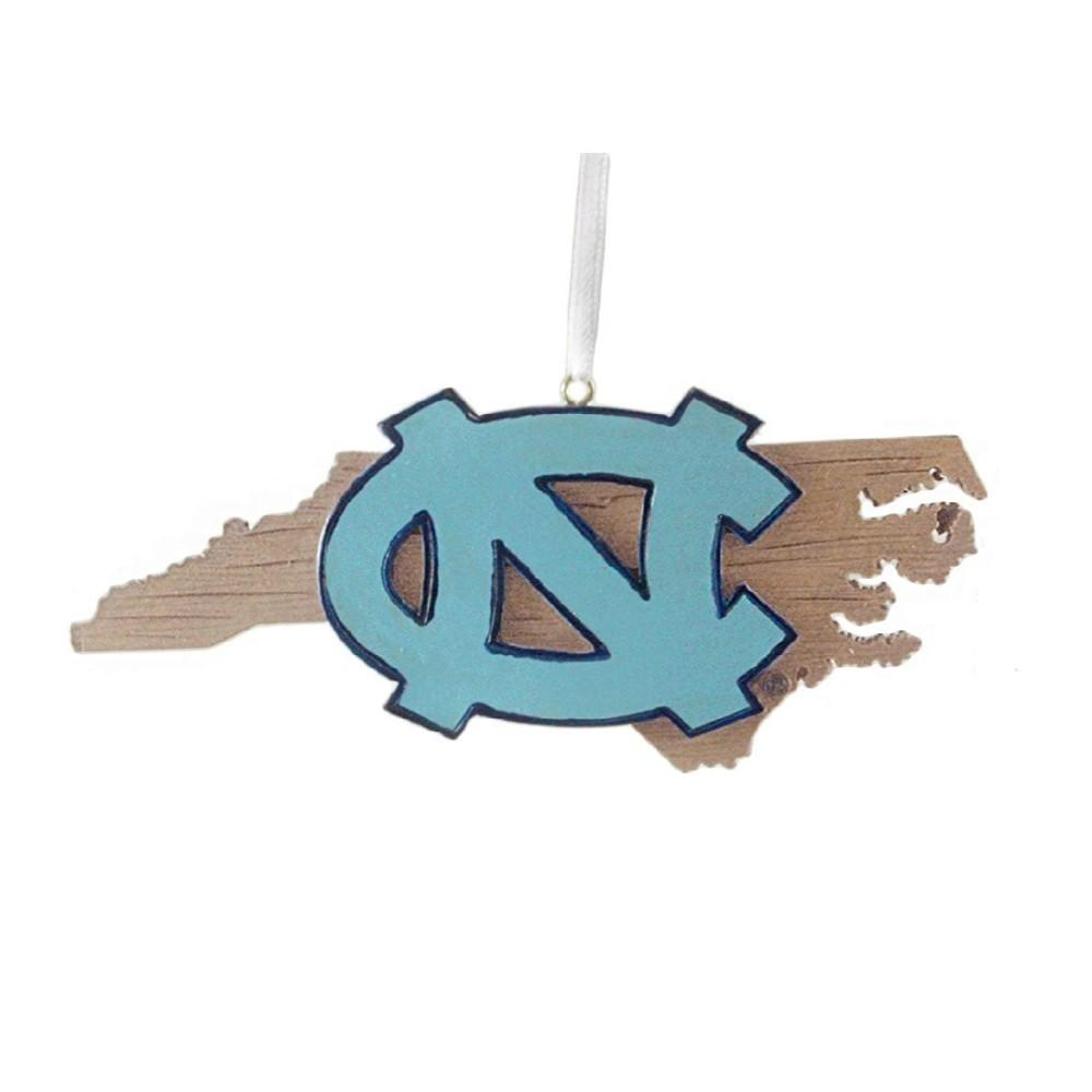 Unc State Map Ornament
