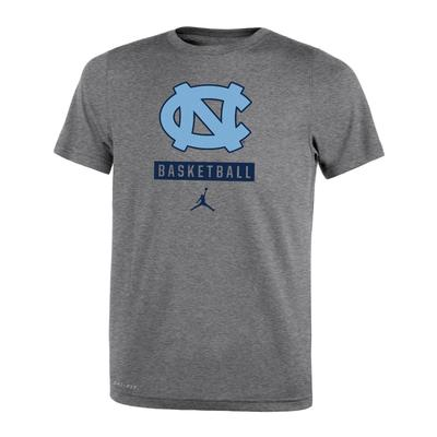 UNC Jordan Brand Boys Dri-Fit Legend 2.0 Basketball Tee