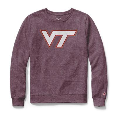 Virginia Tech League Women's Phys Ed Long Sleeve Tee COLL_MRN
