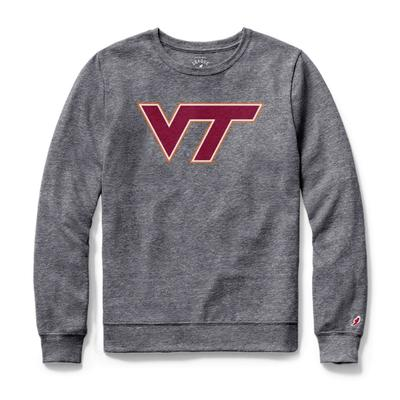 Virginia Tech League Women's Phys Ed Long Sleeve Tee FALL_HTHR