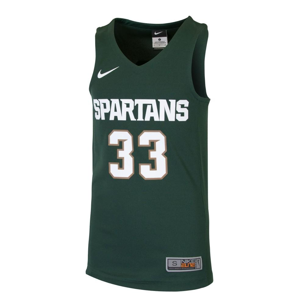 Michigan State Nike Youth Basketball Jersey # 33