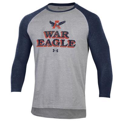 Auburn Under Armour War Eagle Long Sleeve Baseball Tee