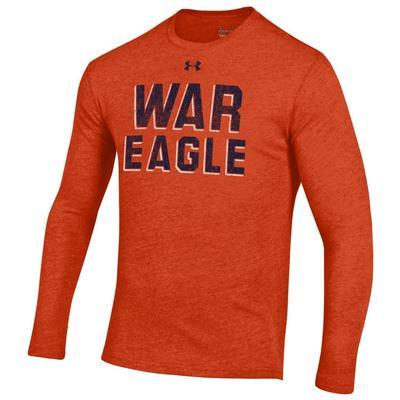 Auburn Under Armour Vault War Eagle Long Sleeve Triblend Tee