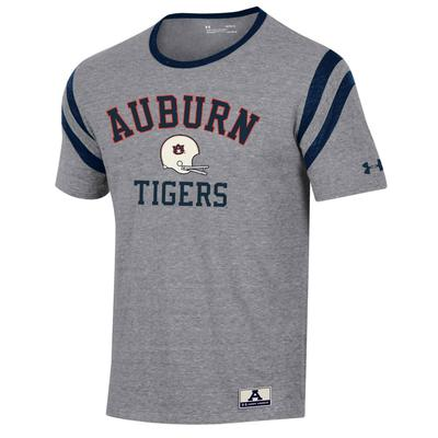 Auburn Under Armour Iconic Sleeve Striped Triblend Tee