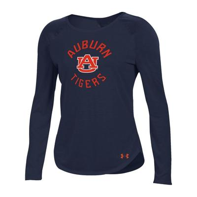 Auburn Under Armour Women's Long Sleeve Threadborne Tee