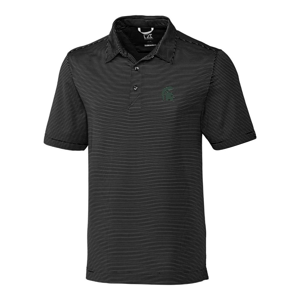 Michigan State Cutter & Buck Big And Tall Prevail Stripe Polo