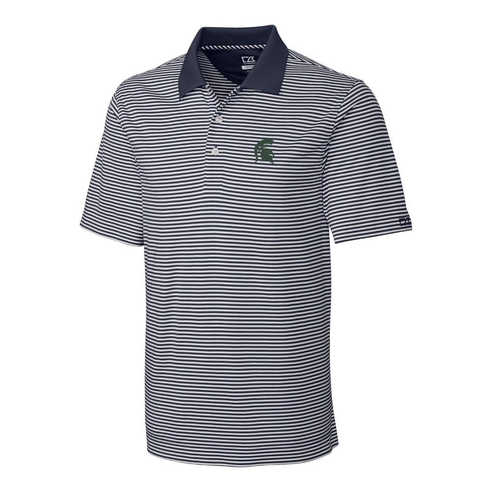 Michigan State Cutter & Buck Big And Tall Trevor Stripe Polo
