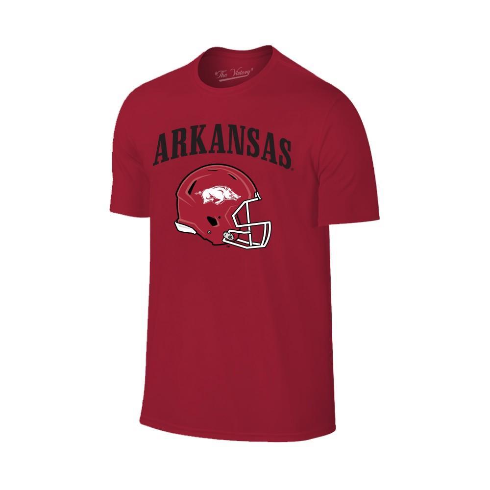 Arkansas Arch Logo Football Helmet Tee