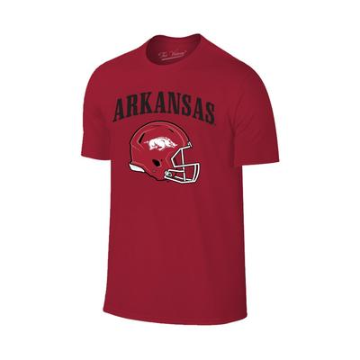 Arkansas Arch Logo Football Helmet Tee