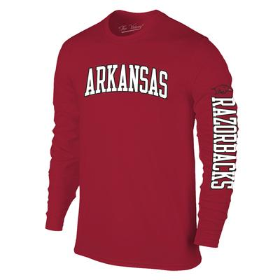 Arkansas Long Sleeve Arch Logo Cotton Tee