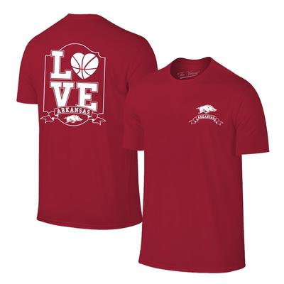 Arkansas Women's Love Basketball T-shirt CARDINAL