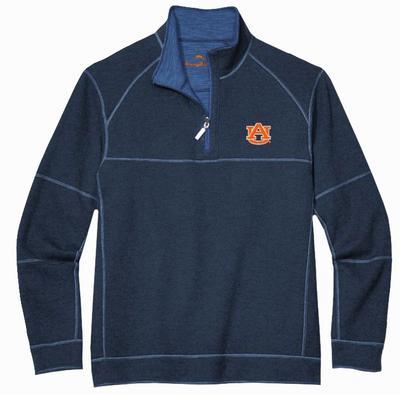 Auburn Tommy Bahama Sandbar Slub Reversible Half-Zip Sweater
