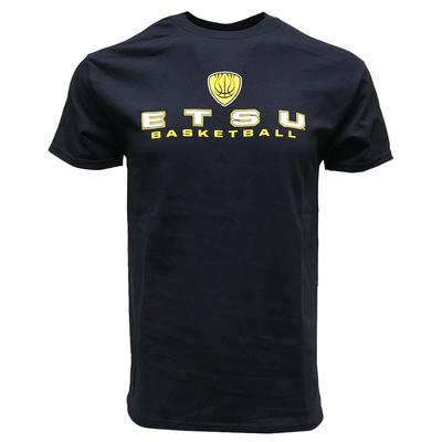 ETSU Shield Stacked Basketball Tee