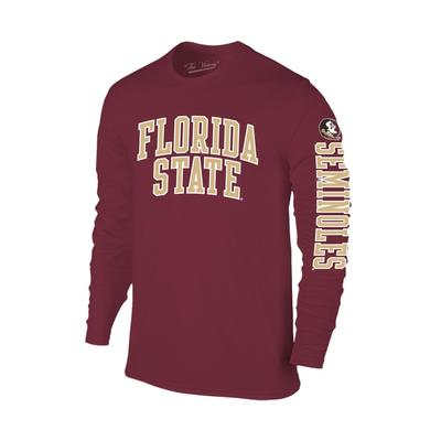 Florida State Arch Logo 2 Location Long Sleeve Tee