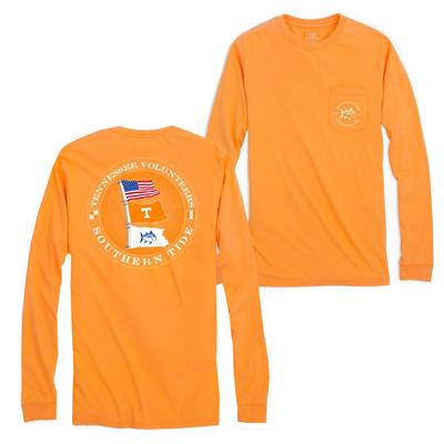 Tennessee Southern Tide Gameday Nautical Flags Long Sleeve Tee