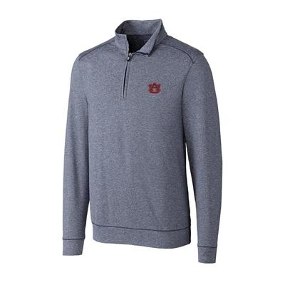 Auburn Cutter & Buck Big And Tall Shoreline Half Zip Pullover