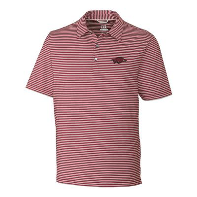 Arkansas Cutter & Buck Big and Tall Division Stripe Polo