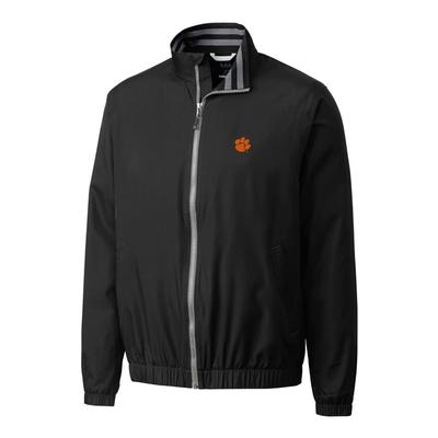 Clemson Cutter & Buck Big and Tall 9 Iron Full Zip Jacket