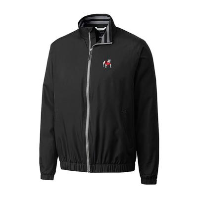 Georgia Cutter & Buck Big and Tall 9 Iron Full Zip Jacket BLACK