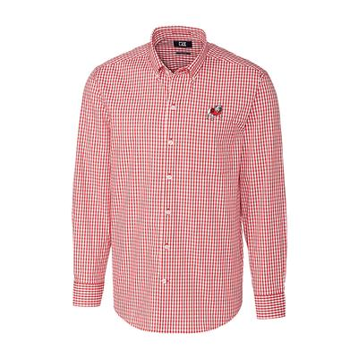 Georgia Cutter & Buck Big and Tall Stretch Gingham Woven Shirt