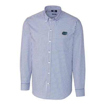 Florida Cutter & Buck Big and Tall Stretch Gingham Woven Shirt