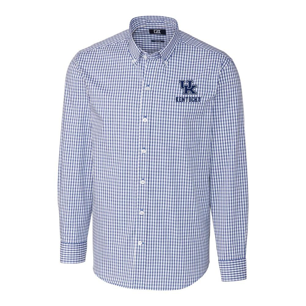 Kentucky Cutter & Buck Big And Tall Stretch Gingham Woven Shirt
